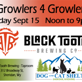 Annual Growlers 4 Growlers Sept 15th
